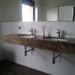 kamieniarstwo blat łazienkowy z marmuru